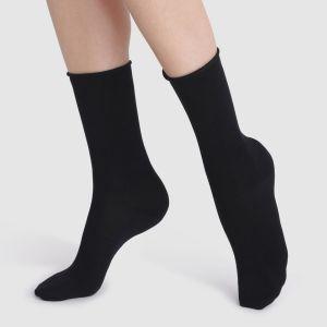 DIM Chaussettes en Modal, lot de 2 paires Noir/Noir - Taille 34/38;39/42