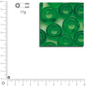 Rayher Mini-rocailles transparentes - Vert - Ø 2 mm x 17 g