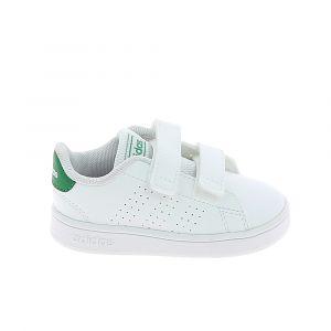 Adidas Chaussure bebe advantage bb blanc vert 21