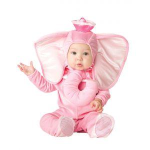 Déguisement éléphant rose pour bébé premium