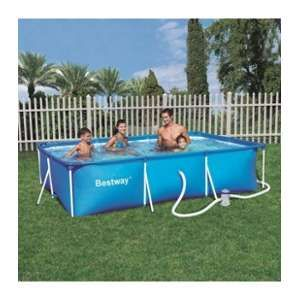 Bestway Splash Frame Pool Piscine rectangulaire tubulaire 3x2,01x0,66m