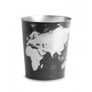 Balvi Corbeilleàpapier Globe en métal