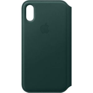 Apple Etui iPhone XS cuir Vert foret