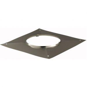 Poujoulat Plaque d étanchéité carrée - Diamètre : 80