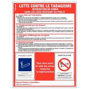 Novap PANNEAU AFFICHAGE LUTTE CONTRE TABAGISME 400X3 00 MM,