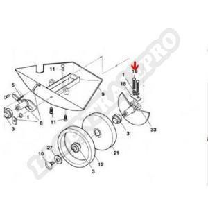 Procopi 1001016 - Vis et écrou d'essieu de grande roue Polaris 180