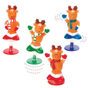 Baker Ross Figurines à ressort : rennes (Lot de 4)