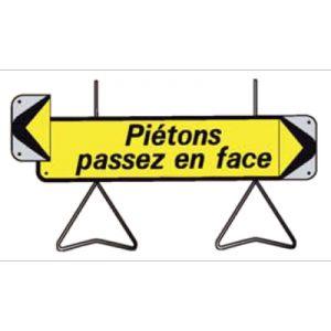 Taliaplast 526012 - Panneau signalisation piétons passez en face avec flèche amovible kd t1 1000x300mm
