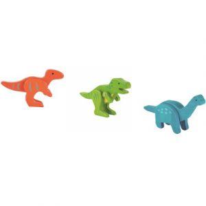 EverEarth Lot de 3 dinosaures en bambou