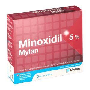 Mylan Minoxidil 5% - 180 ml Solution pour application locale