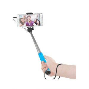 Bigben Perche à selfie BIGBEN CONNECTED Selfie Stick Filaire Mini bleu
