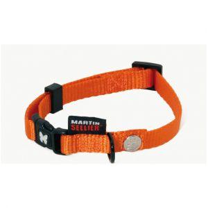 Martin Sellier COLLIER CHIEN NYLON UNI REGLABLE Orange - 20-30cm