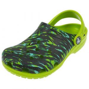 Crocs Classicgrphclgk, Sabots Mixte Enfant, Vert (Volt Green), 20-21 EU
