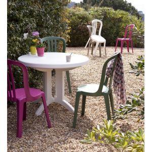 Grosfillex Vega - Table de jardin ronde en résine Ø98 x 72 cm ...
