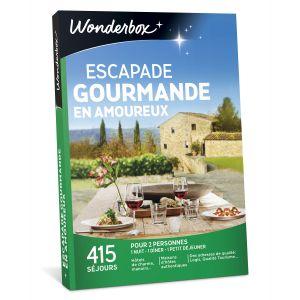 Wonderbox Escapade gourmande en amoureux - Coffret cadeau 415 séjours