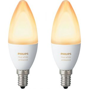 Image de Philips Hue White Ambiance Flamme Duobox E14