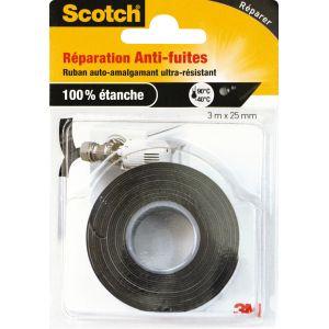 Scotch Ruban adhésif de réparation anti-fuites auto-amalgamant 25 mm x 3 m