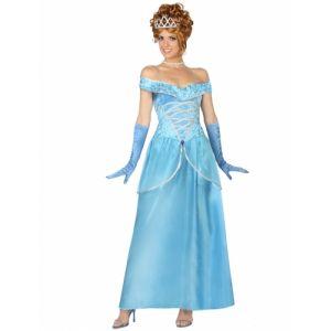 Déguisement Princesse Bleu Femme, Taille Xl