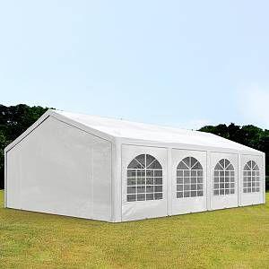 Intent24 Tente Barnum de Réception 5x8 m PE Bâches Amovibles 200-240 g/m² BLANC / Jardin Tonnelle Pavillon Chapiteau.FR