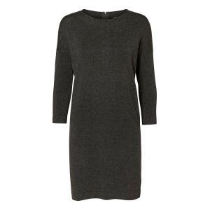 Vero Moda VMGLORY VIPE AURA 3/4 DRESS NOOS, Robe Femme, Gris (Dark Grey Melange), 42 (Taille fabricant: X-Large)