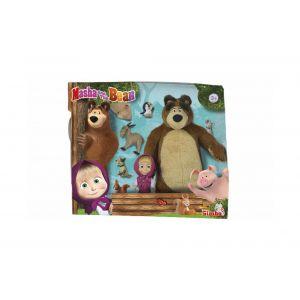 Simba Toys Masha 12cm Michka 25cm et animaux