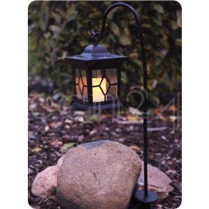 Best Season 477-20 - Lanterne solaire avec bougie LED vacillante H 58 cm