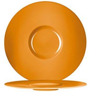 Chef & Sommelier Assiette plate ronde en porcelaine caramel 31cm - Moon