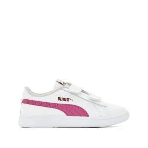 Puma Smash V2 L V PS, Sneakers Basses Mixte Enfant, Blanc White-Magenta Haze-Fig-Gray Violet 08, 34 EU