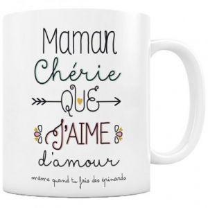 """Label'tour Mug céramique """"Maman chérie que j'aime"""" - créabisontine"""