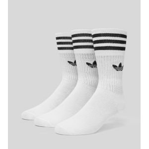 Adidas Solid Crew 3er Pack chaussettes Hommes blanc T. 35-38