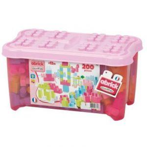 Ecoiffier 7775 - Abrick : Baril de 200 pièces roses