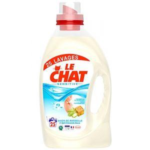 Le chat sensitive lessive liquide savon de marseille amande douce 1 875 l 25 lavages - Lessive au savon noir ...