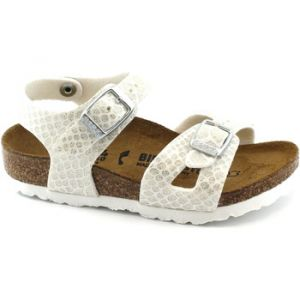 Image de Birkenstock Rio, Sandales Bride Arriere Filles, Blanc (Noir Magic Snake White Noir Magic Snake White), 34 EU