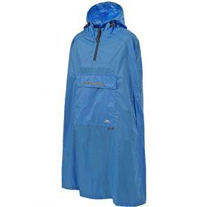 Trespass Qikpac Poncho Vestes Coupe-Pluie Homme Bleu FR S (Taille Fabricant S)