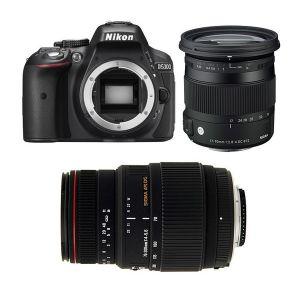 Nikon D5300 (avec 2 objectifs Sigma 17-70mm et Sigma 70-300mm)