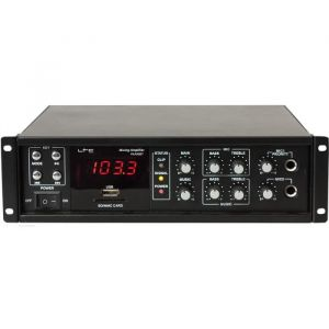 LTC Audio LTC PAA80BT - Amplificateur public adresse 80W avec bluetooth, usb-mp3 et tuner fm
