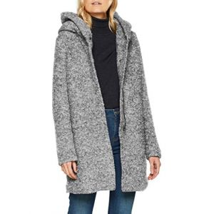 Only NOS Onlsedona Boucle Wool Coat OTW Noos Manteau, Gris (Light Grey Melange Detail:Melange), 36 (Taille Fabricant: X-Small) Femme