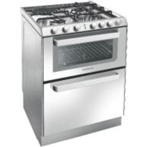 Rosières TRM 60 - Cuisinière mixte 3 brûleurs gaz avec four électrique 39 L et lave-vaisselle 6 couverts AAA