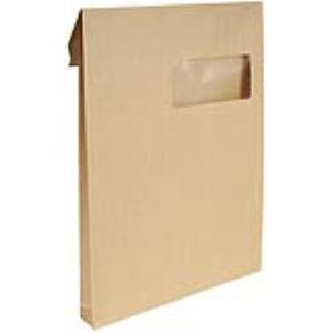Majuscule 50 pochettes 22,9 x 32,4 cm avec fenêtre 5 x 10 cm