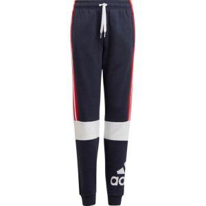 Adidas Jogging 3 bandes côtés 5 - 16 ans Bleu + Rouge - Taille 11/12 ans;13/14 ans;15/16 ans;5/6 ans;7/8 ans;9/10 ans
