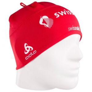Odlo 772120 Bonnet léger skating/biathlon mixte Polyknit Light Fan Swiss fan with swisscom Taille unique