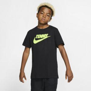 Nike Tee-shirt de tennisà motif Court Dri-FIT pour Garçon - Noir - Taille M - Male