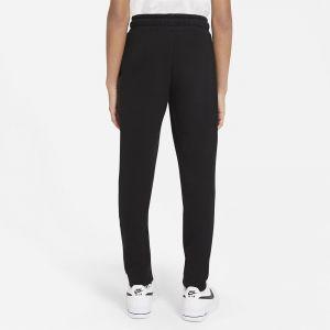 Nike NSW FLC Swoosh Pant Garçon, Noir/Blanc, L
