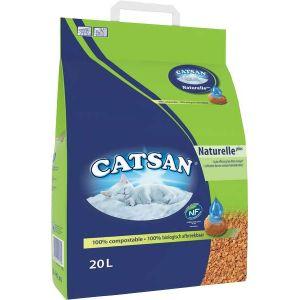 Catsan Naturelle Plus 20 L - Litière pour chat