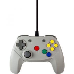 Under Control Manette filaire Nintendo 64 - 2M - Grise - Croix directionnelle. Stick analogique