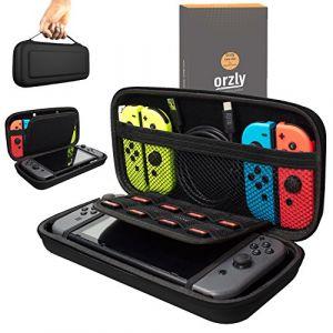 Orzly Etui Rigide en EVA pour Nintendo Switch %u2013 Housse Rigide de Rangement Zippée en Matériau Durable Anti-Choc pour la console Nintendo Switch