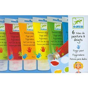 Djeco 6 tubes de peinture à doigts