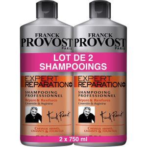 Franck Provost Shampooing Expert Réparation+ - Les 2 Flacons de 750 ml