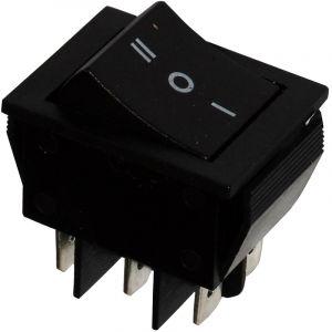 Aerzetix Interrupteur commutateur contacteur bouton à bascule noir DP3T ON-OFF-ON 15A/250V 3 positions