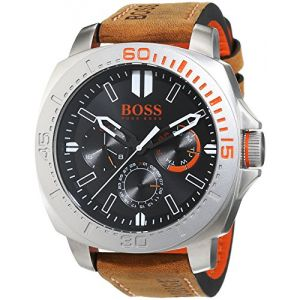 Hugo Boss 1513297 - Montre pour homme avec bracelet en cuir